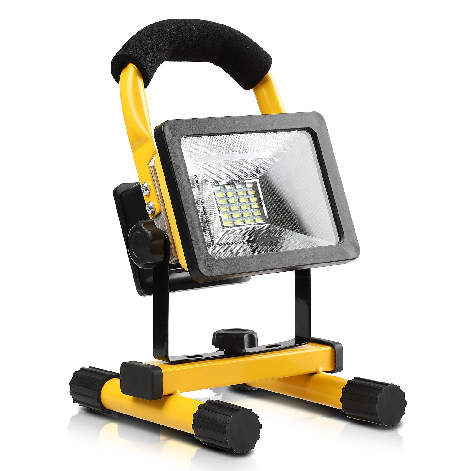 DAMULY LED Portable work lights Spotlights Work Lights floor lights camping lights, Rechargeable 3 18650 Lithium-ion Batteries USB Ports to charge Digital Devices and Special SOS Modes Emergency Light