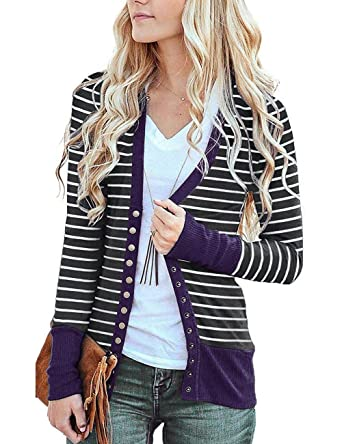 Ladies Long Sleeve Button Up Sweater Cardigan Sexy Deep V Neck Coat Jersey  Knit Cardigan Jacket 75fd6c5df