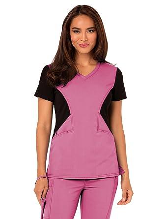 ec07c481088 Amazon.com: Careisma by Sofia Vergara Women's Sofia V-Neck Solid Scrub Top  Medium Pink Passion: Clothing