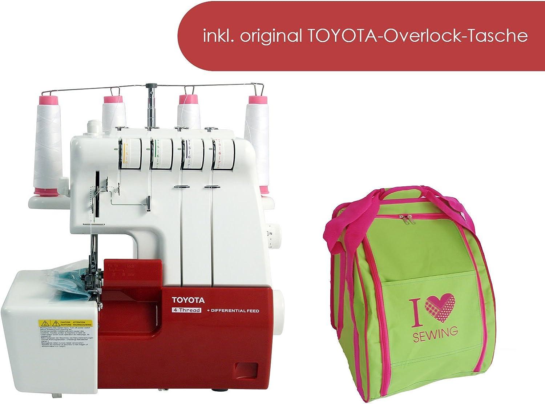 Toyota SLR 4d overlockmaschine con accesorios y funda: Amazon.es ...