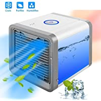 Tallin Mini Portable Air Cooler Fan Quick & Easy Cool Any Space For Home Office Personal Space,16x16x17, (White)