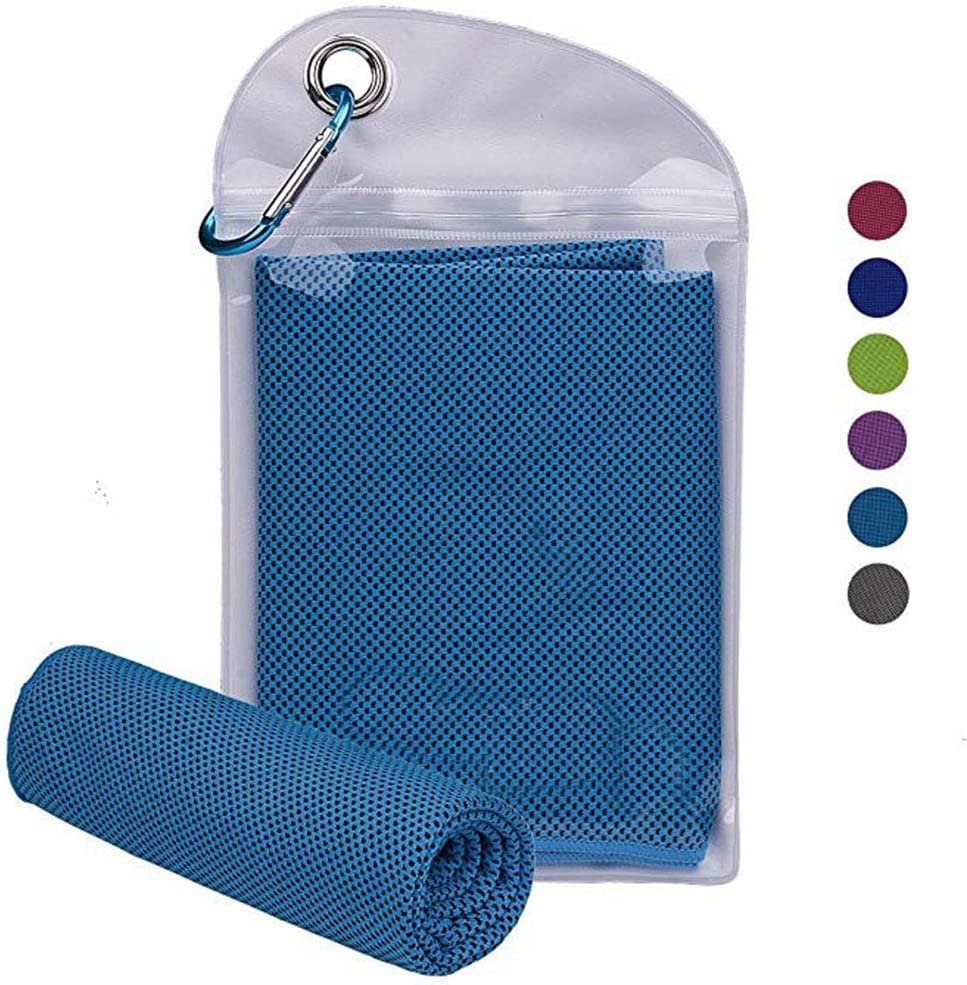 """T-PROCESS Cooling Towel for Instant Relief-(40""""x12"""") CoolingTowel Stay Cool for Gym Yoga & Outdoor Sports"""