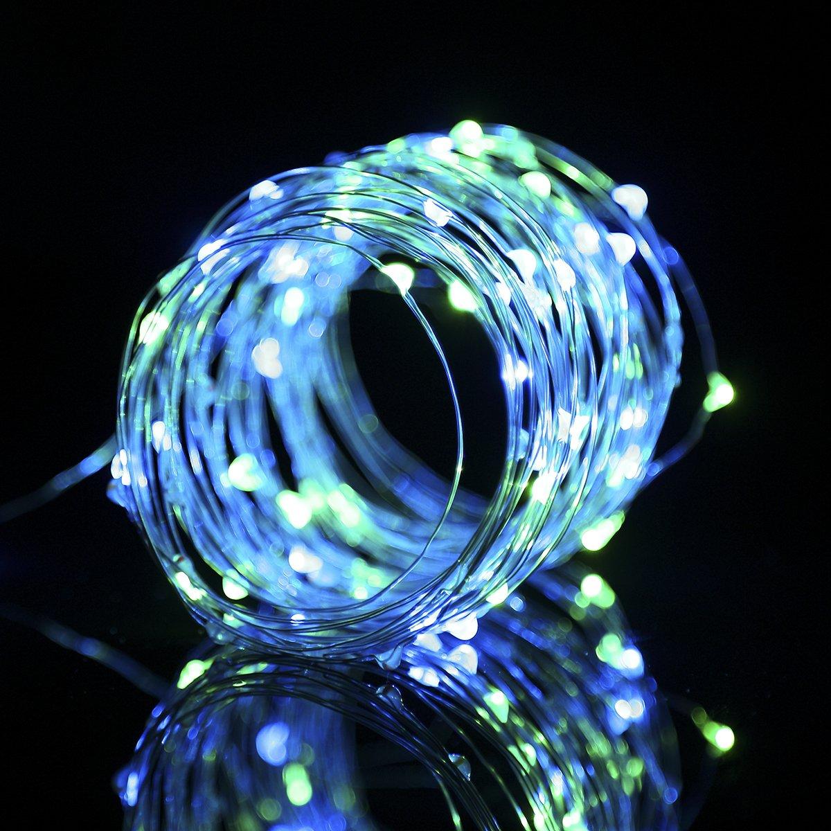 Amazon.com : B-right LED String Lights, 33ft 100 LEDs 8 Modes Copper ...