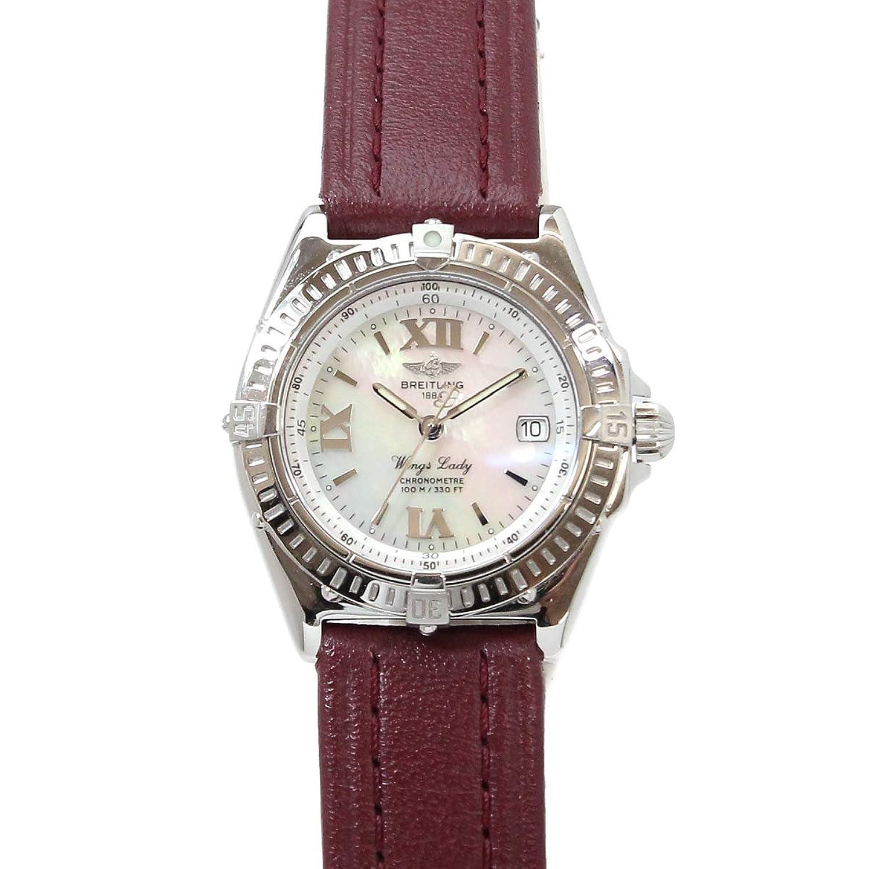 ブライトリング BREITLING ウィングレディ レディース 腕時計 A67350 ホワイトシェル 文字盤 デイト クォーツ ウォッチ 【中古】 90053654 [並行輸入品] B07F9QKL3B