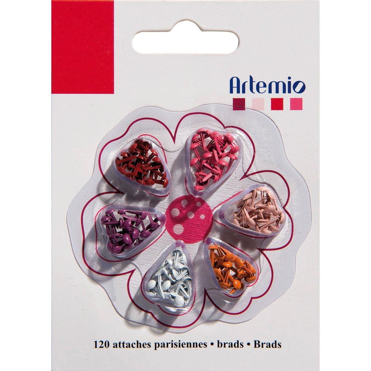 tama/ño peque/ño, 120 unidades color rojo Mini tachuelas Artemio