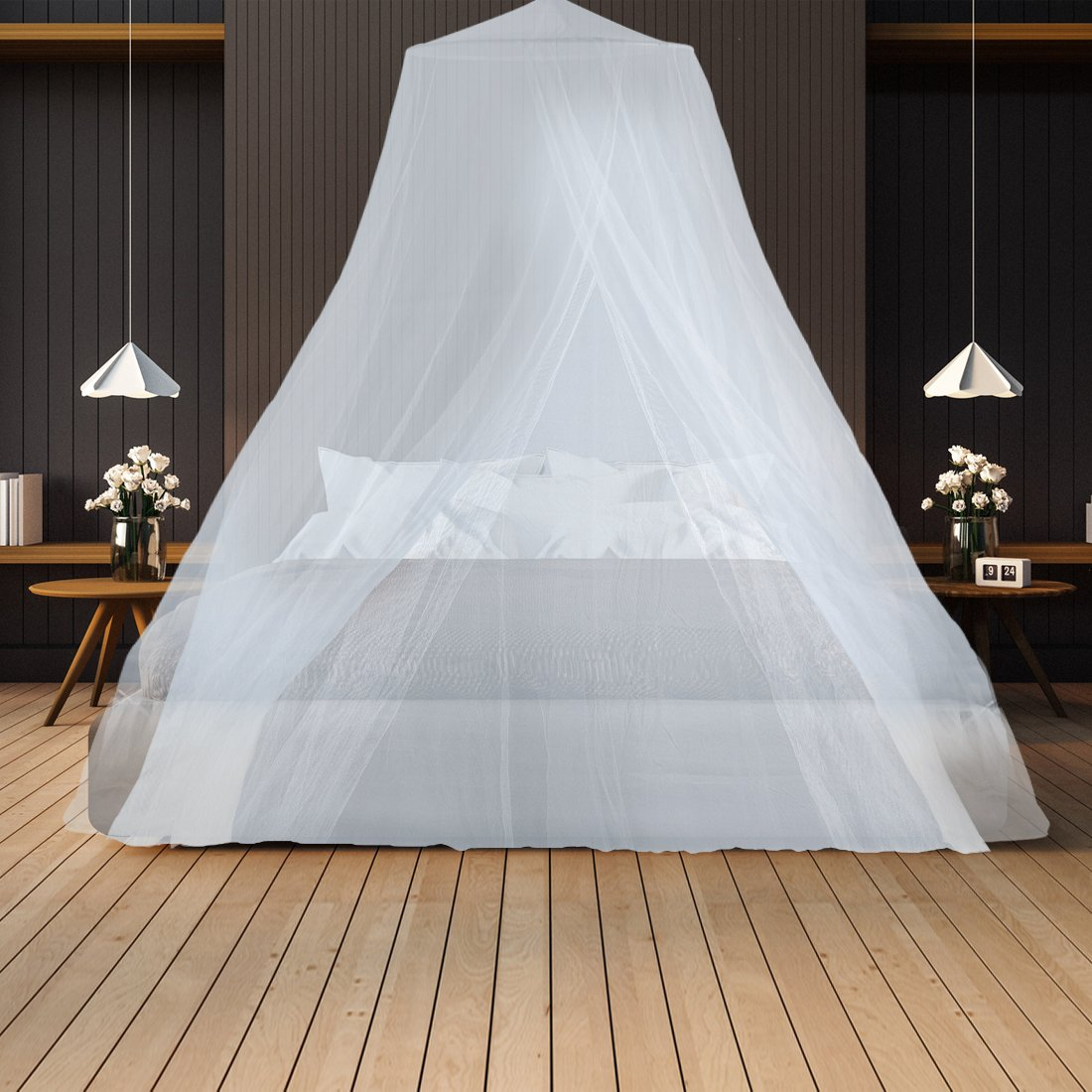 Mosquito Netting– Keeps Away Insects & Flies – Perfect For Indoors And Outdoors, Playgrounds, Fits Most Size Beds, Cribs - Conical Design, Including Hanging Parts and a FREE Carry Bag To Carry Along