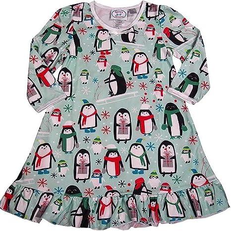 Little Girls Puffed Long Sleeve Nightgown Saras Prints