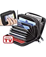 Palm Size Wallet Accordion Style Credit Card Holder