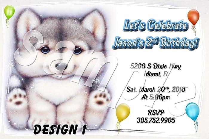amazon com wolf cub personalized birthday invitations more designs