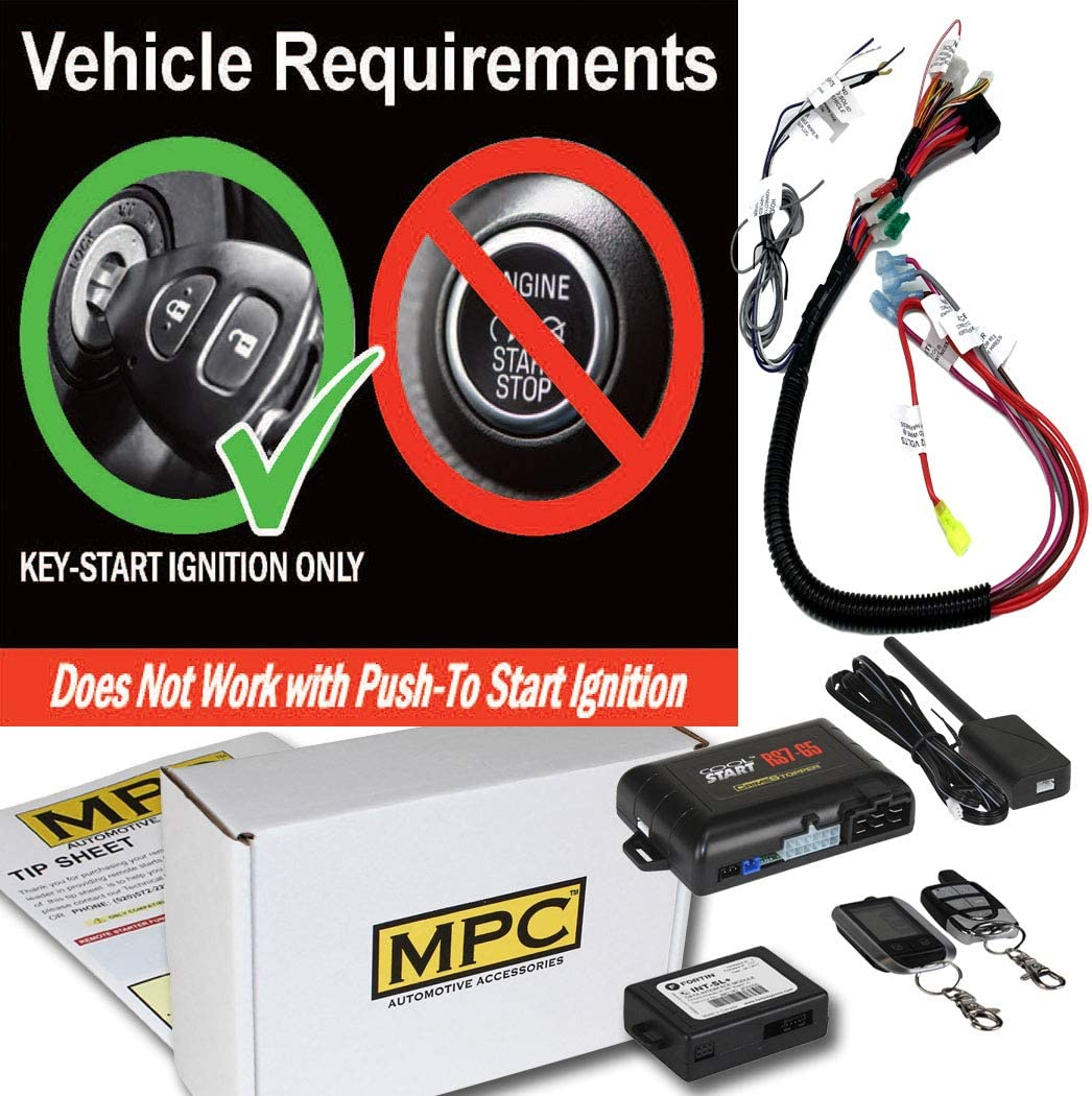 Firmware Preloaded MPC 2 Way LCD Remote Start Kit with Keyless Entry for 2003-2006 Chevrolet Silverado 2500 HD Prewired