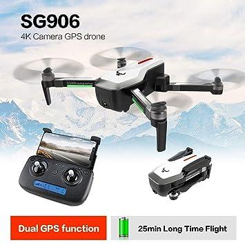 Lorenlli Ajuste SG906 GPS 5G WiFi FPV 4K Selfie cámara RC Drone ...