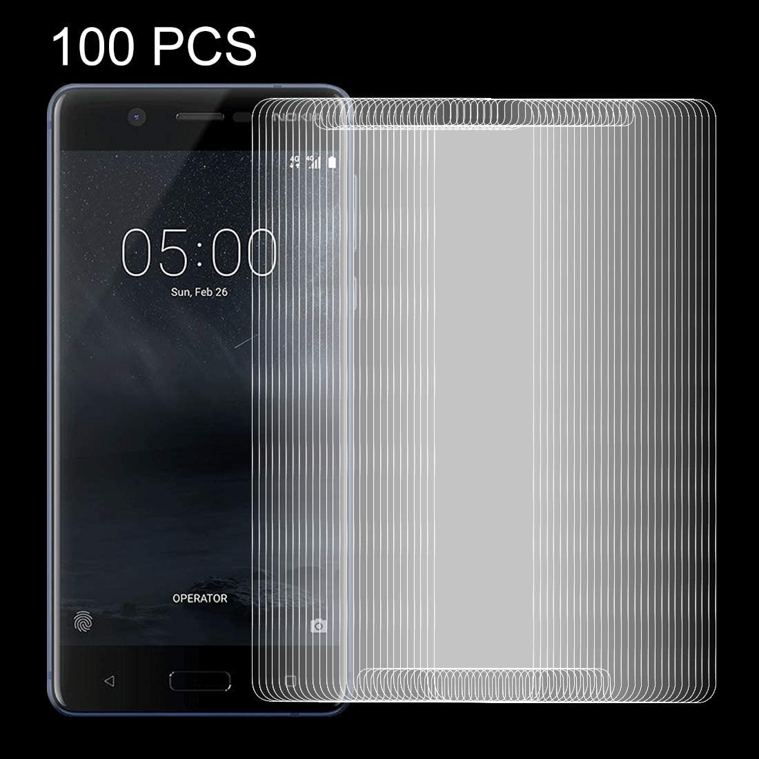 XHC Screen Protector Film 100 PCS for Nokia 5 0.26mm 9H Surface Hardness Explosion-Proof Non-Full Screen Tempered Glass Screen Film Tempered Glass Film