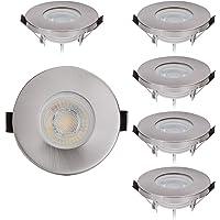 6 IP44 cromo con LED Spot Foco LED