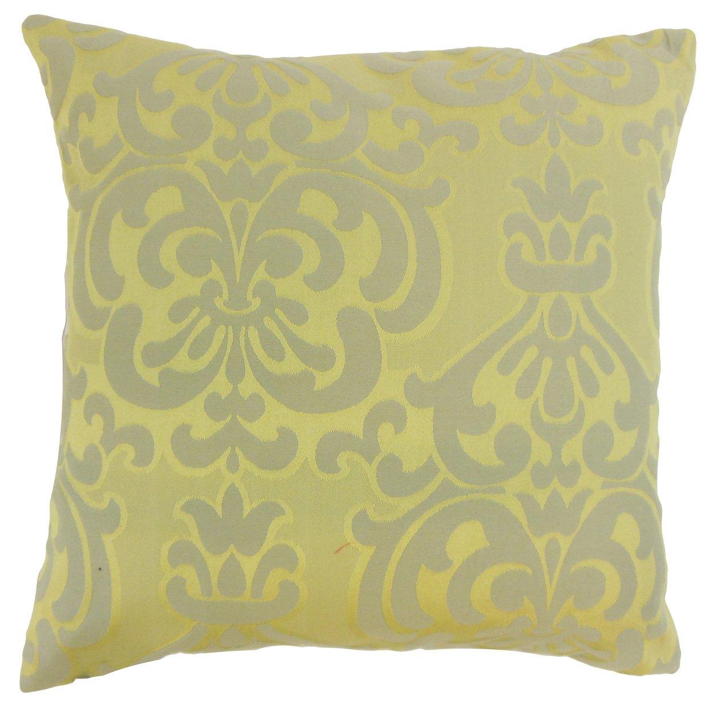 The枕コレクションp18-bar-m9715-lichen-c54p46 Saraneダマスク枕、Lichen   B013WWSSHO