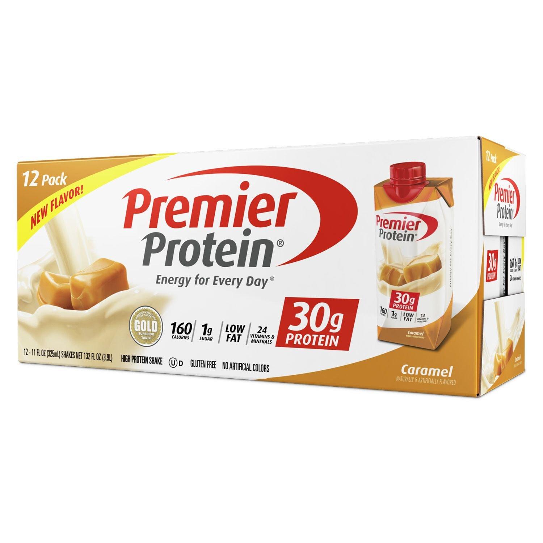 Premier Protein High Protein Shake, Caramel (11 fl. oz, 12 pack)