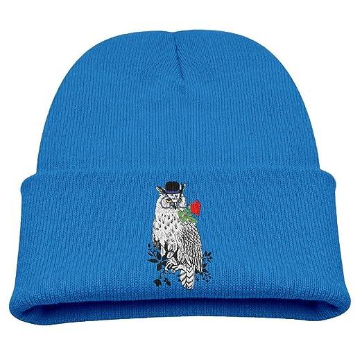 5a7576f428f Amazon.com  Owl Rose Funny Cartoon Babys Beanie Skull Cap  Clothing
