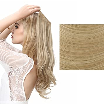 Amazon sarla halo synthetic hairpieces flip in women hair sarla halo synthetic hairpieces flip in women hair extensions natural wave hidden halo hair extensions m01 pmusecretfo Image collections