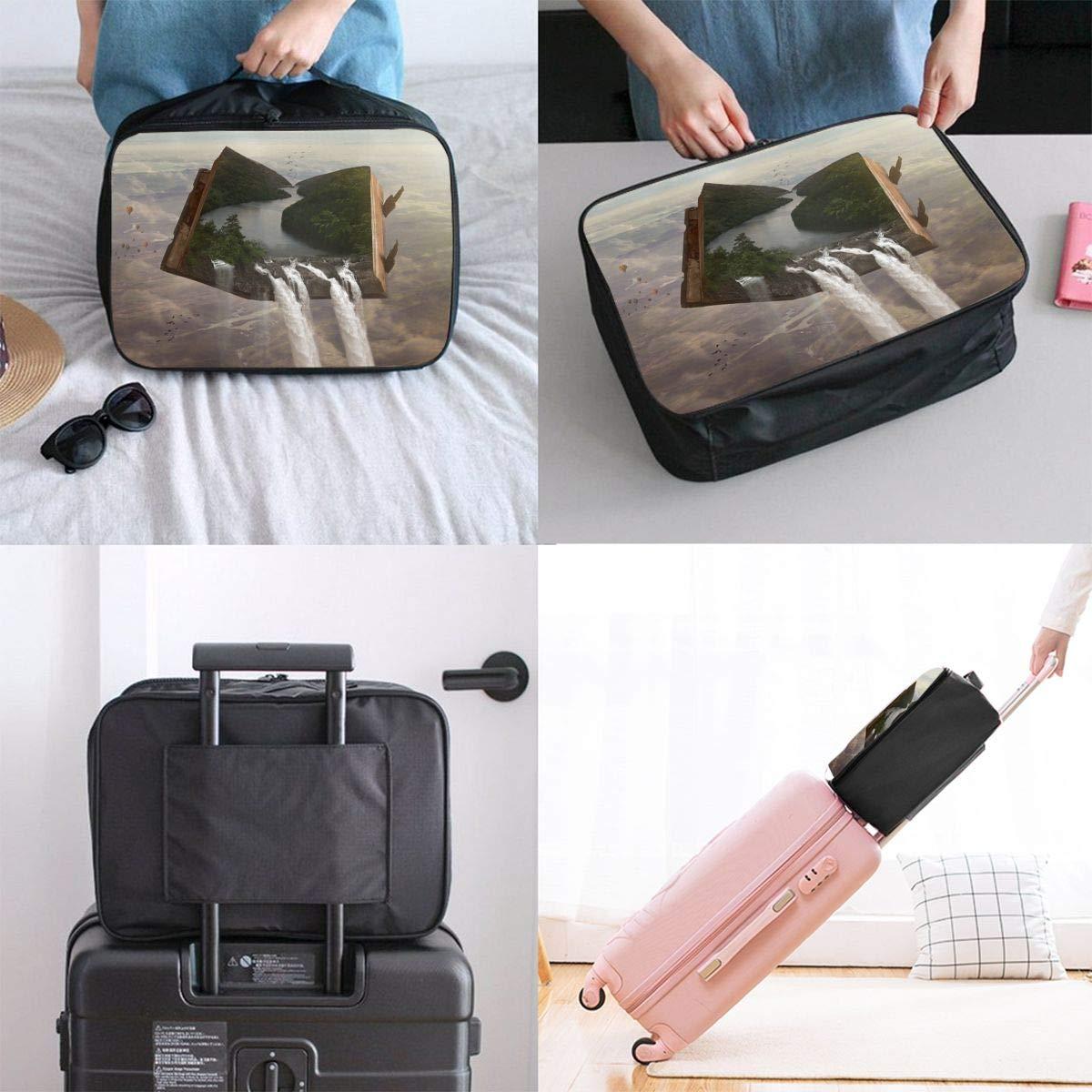 Travel Luggage Duffle Bag Lightweight Portable Handbag Fantasy Painting Large Capacity Waterproof Foldable Storage Tote