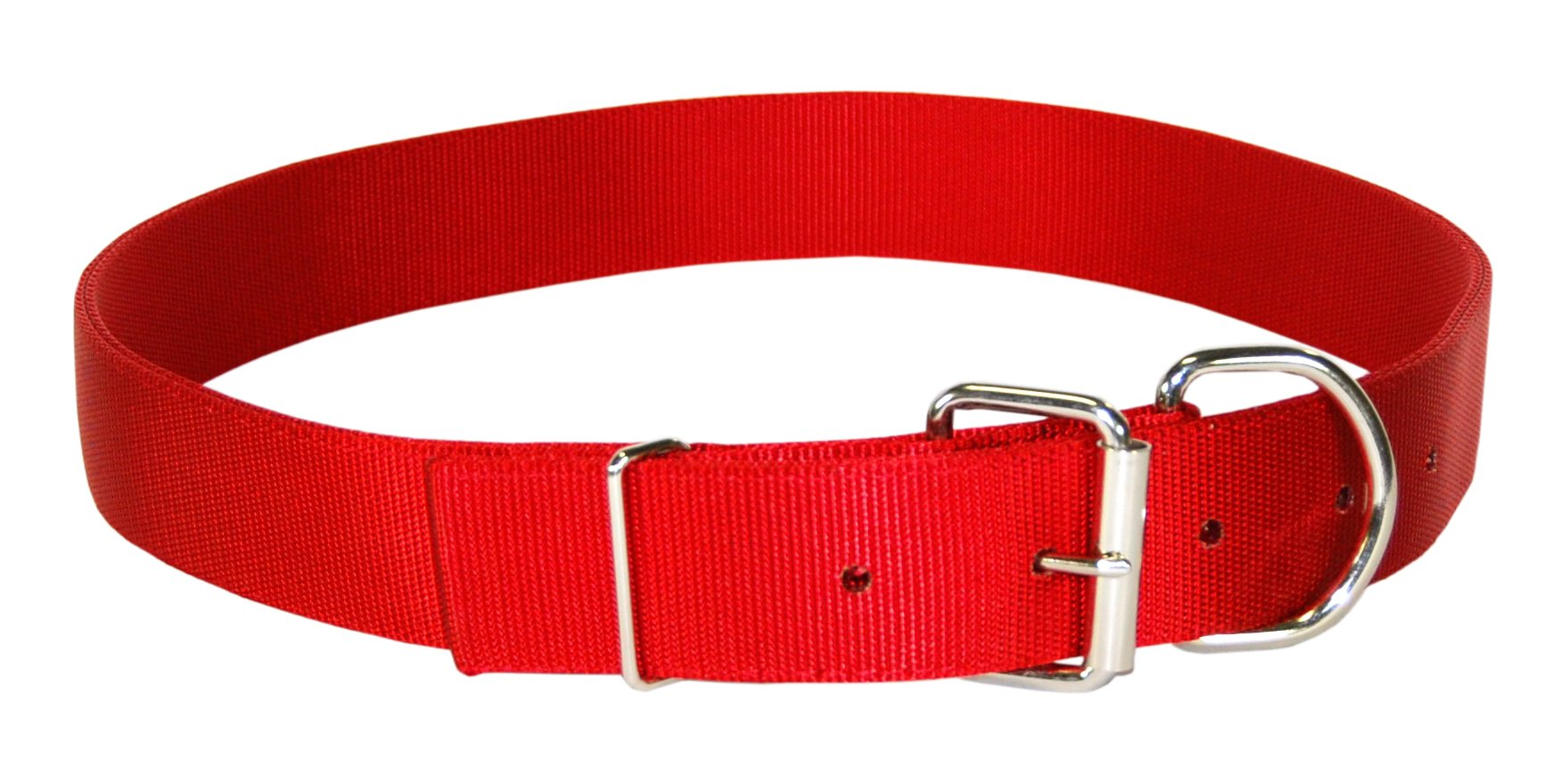 Hamilton Deluxe Double Thick Nylon Calf Collar, 1-3/4 by 36-Inch, Red