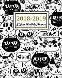 Planificador mensual de 2 años 2018 – 2019, planificador de dos años | Calendario diario semanal y mensual | Agenda Agenda Agenda Agenda Organizador ... planificador) (volumen 7): Volume 7
