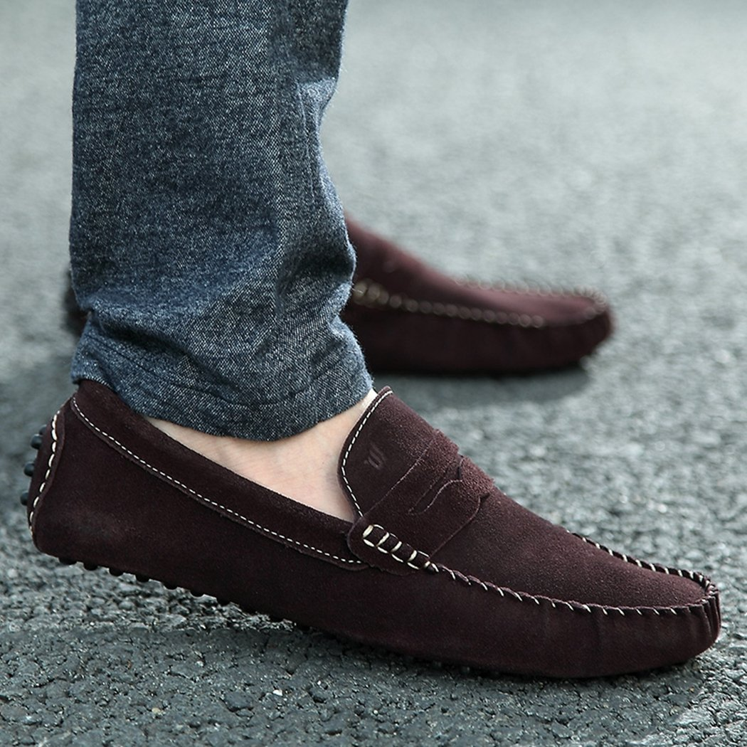 Fashion Mens Loafers Suede Classic Design Slip-On Car Flat Shoe