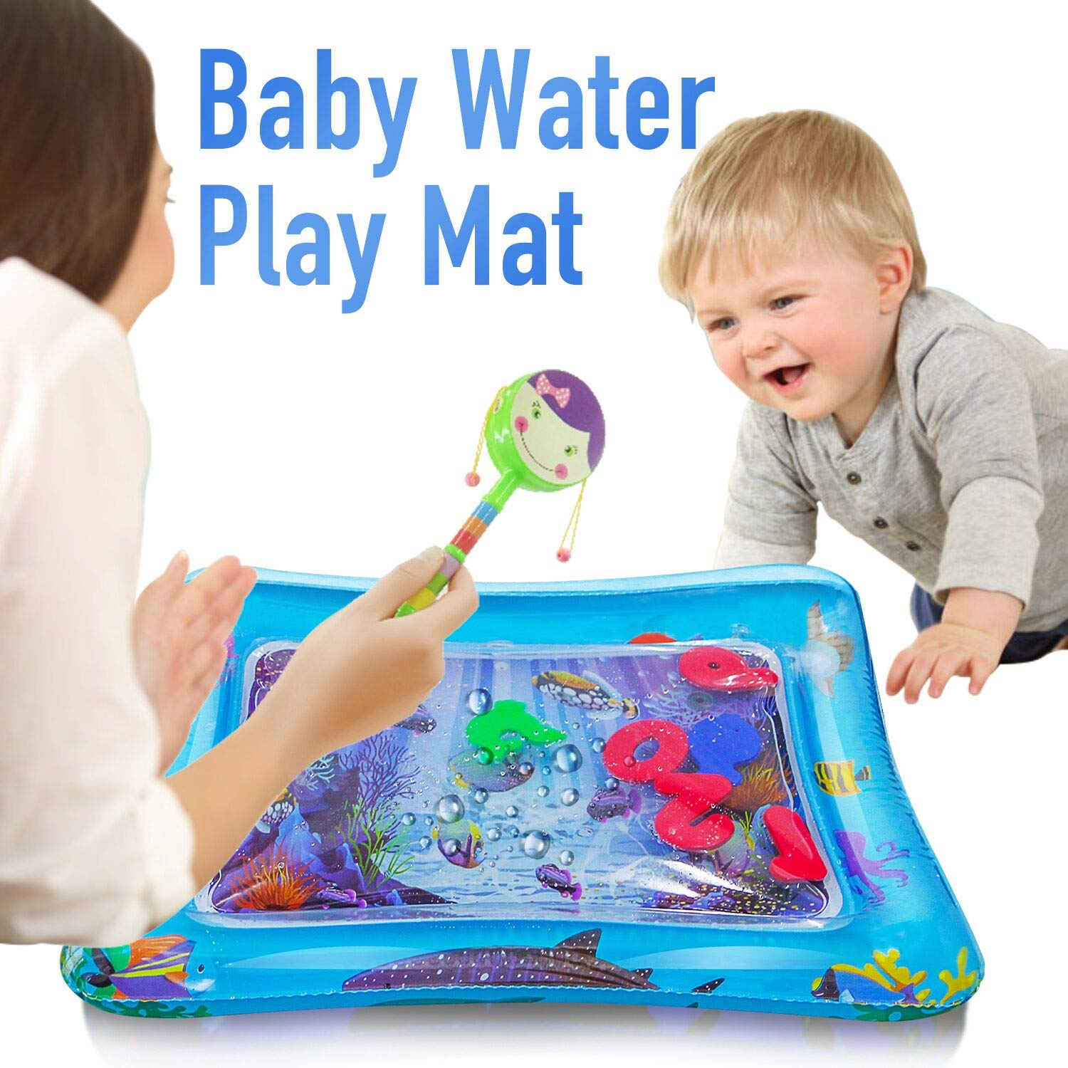HISTOYE Baby Inflatable Patted Pad Tummy Time Water Play Mat for Babies Water