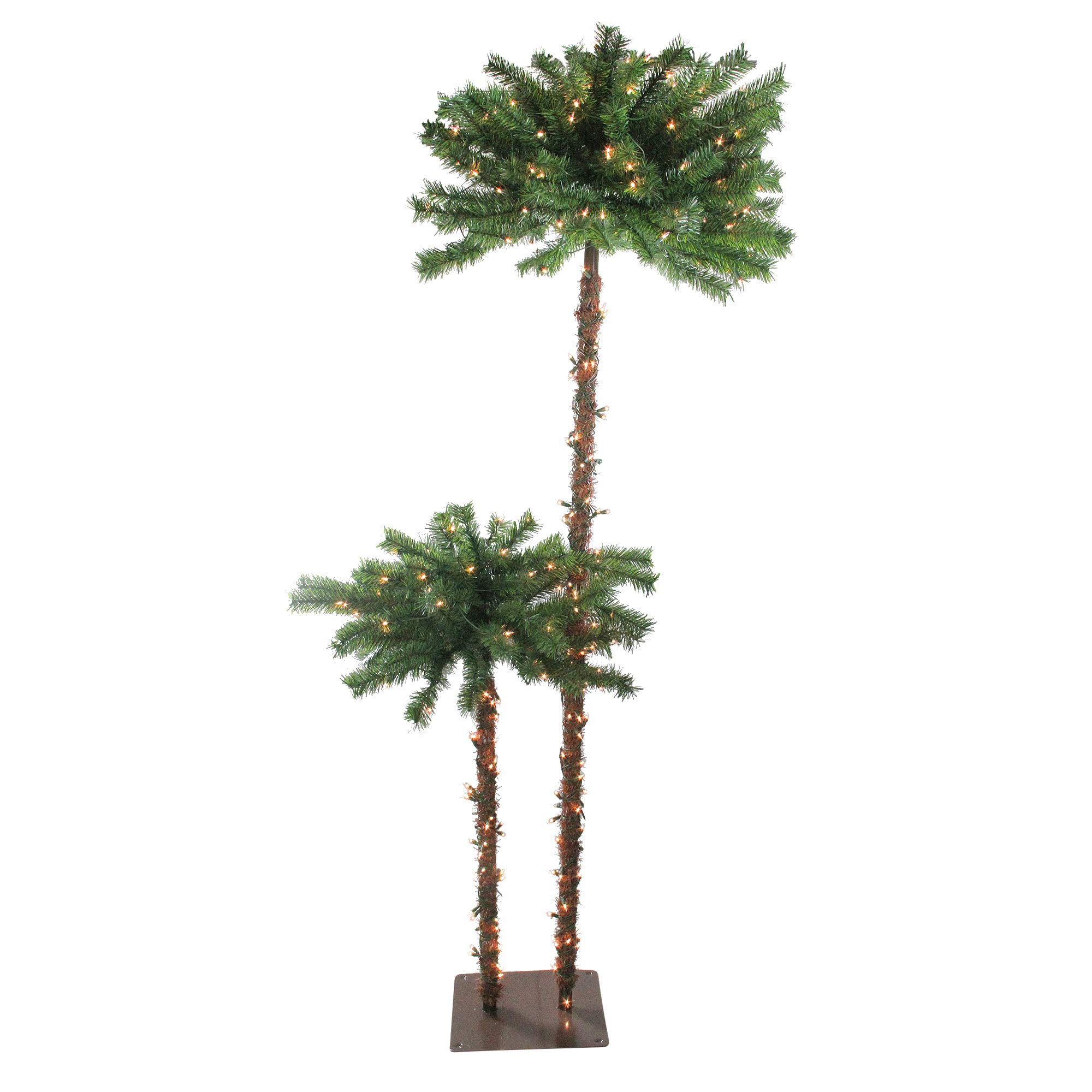 Northlight Pre-Lit Tropical Palm Artificial Christmas Tree with Clear Lights, 6'