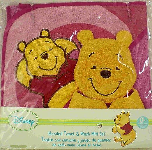 Amazon.com: Disney Baby Winnie the Pooh Hooded Towel & Wash Mitt set: Baby