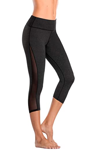 Eono Essentials Womens Capri Yoga Pants (Dark Grey, Small ...