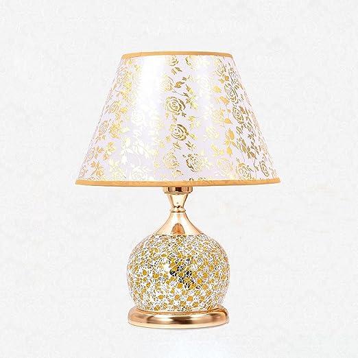 Lámparas de Escritorio Mesita de Noche Americana Lámpara con Doble ...