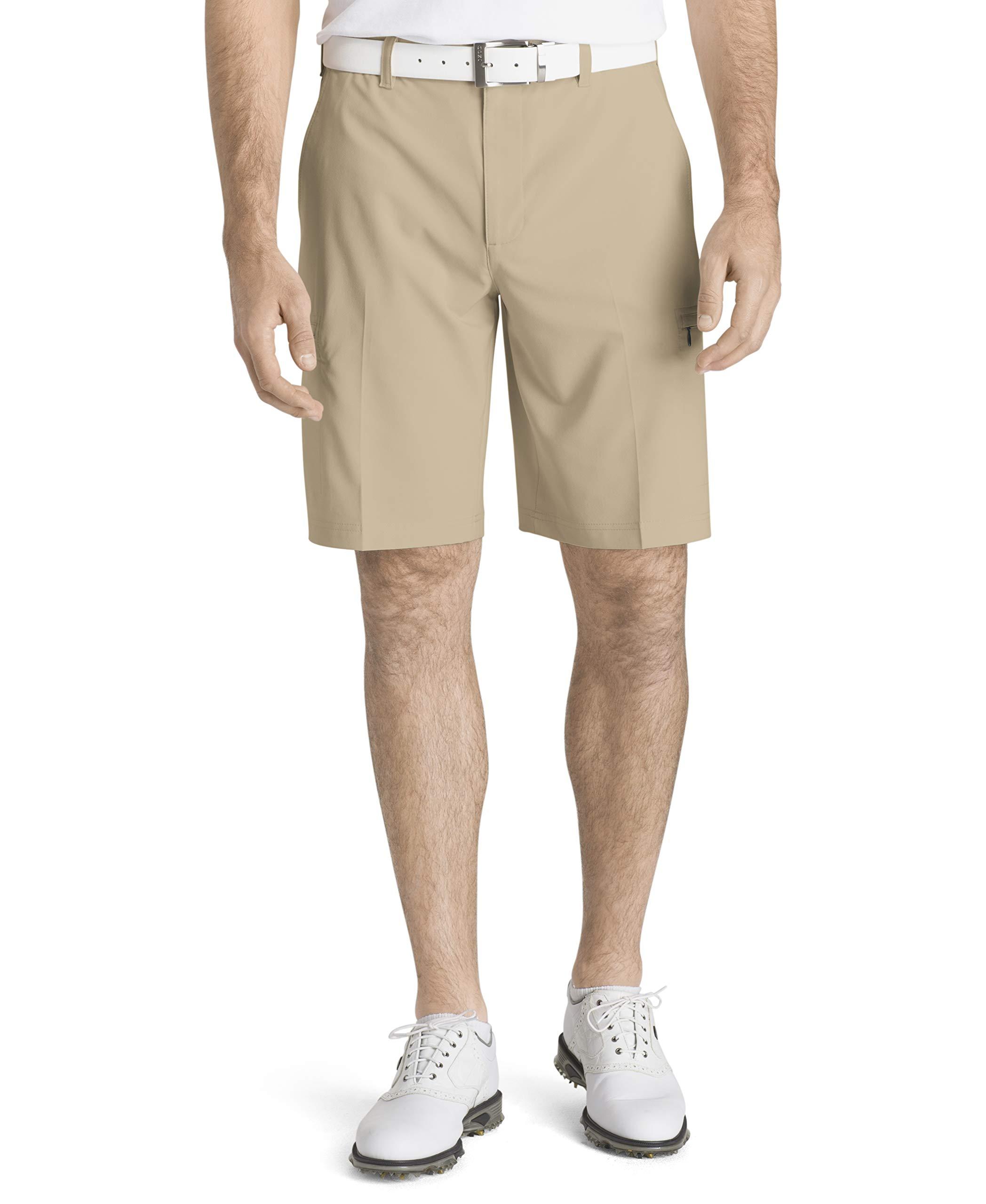 IZOD Men's Golf SwingFlex Cargo Short, red Khaki, 36 by IZOD