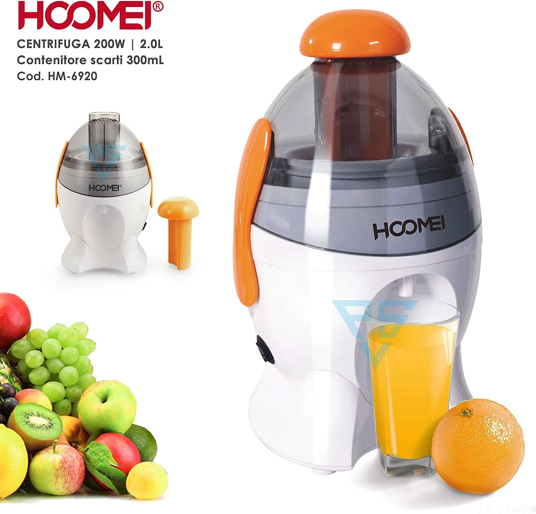 Hoomei, licuadora y extractor de zumo en frío, HM-6920, 200 W ...