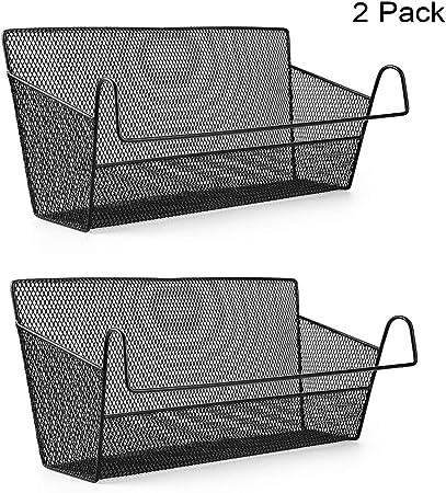 Large Capacity Bedside Hanging Storage Bed Pocket Basket with Hanging Hook Dormitory Bed Organiser Caddy Desktop Storage Rack for Home Office School BunkBed Phone Ipad Book Pen Remote Glasses GrayGrid