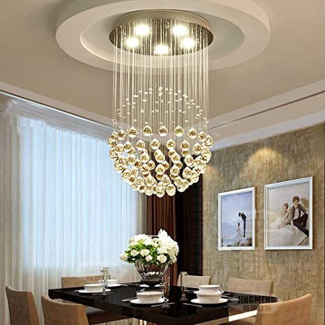 Gota Bola de cristal lámpara de techo 20 W LED moderno araña ...