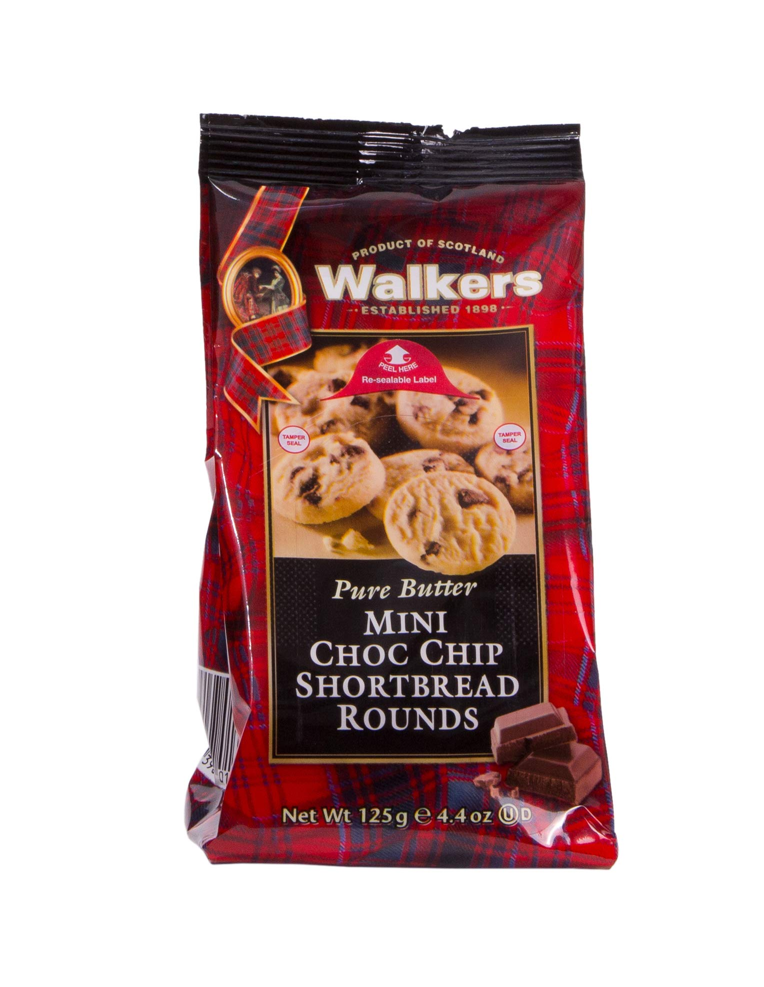 Walkers Shortbread Mini Chocolate Chip Rounds, Traditional Pure Butter Shortbread Cookies with Chocolate Chips, 4.4 oz Bags (6 Bags) by Walkers Shortbread