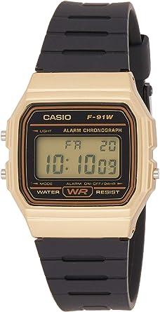 Casio Reloj Digital para Unisex de Cuarzo con Correa en Resina F ...