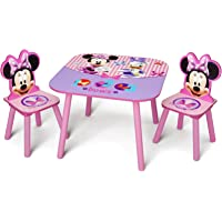 Delta Children Kids Chair Set & Table (2 Chairs Included), Disney Minnie Mouse