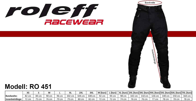 Black Roleff Racewear 451M Medium Textile Motorcycle Trouser