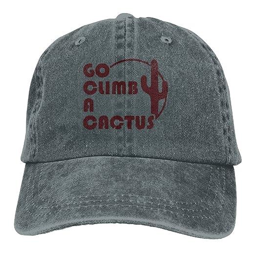 e799c2cfdae53f Go Climb A Cactus - Funny Retro Vintage Hat Snap-Back Hip-Hop Cap ...