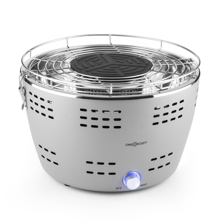 Oneconcept Beefy B Parrilla de carbón portátil (Barbacoa sin Humo, Arranque rápido, Cool Touch, Bolsa de Transporte) - Gris: Amazon.es: Jardín