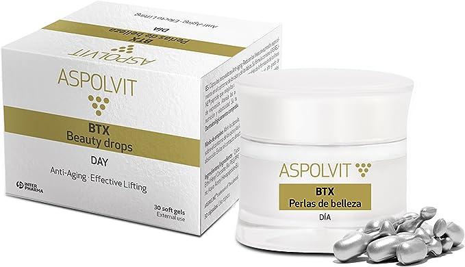 ASPOLVIT – BTX Cápsulas de día antiedad innovadoras. Reducen las líneas de expresión del contorno de ojos y labios – 30 cápsulas