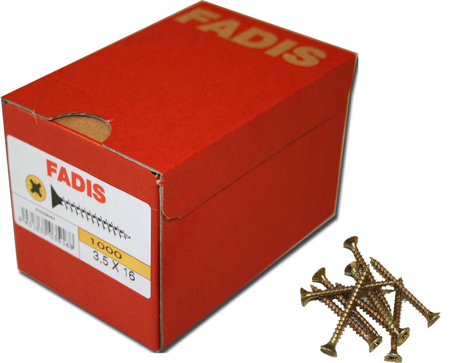 Tornillo Fadis Bicromatado 5X50 200Pz. Fadis
