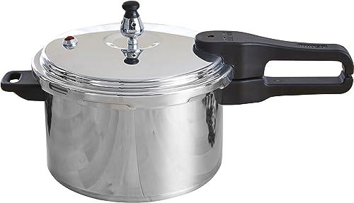 IMUSA USA A417-80801W Stovetop Aluminum Pressure Cooker 7.0-Quart
