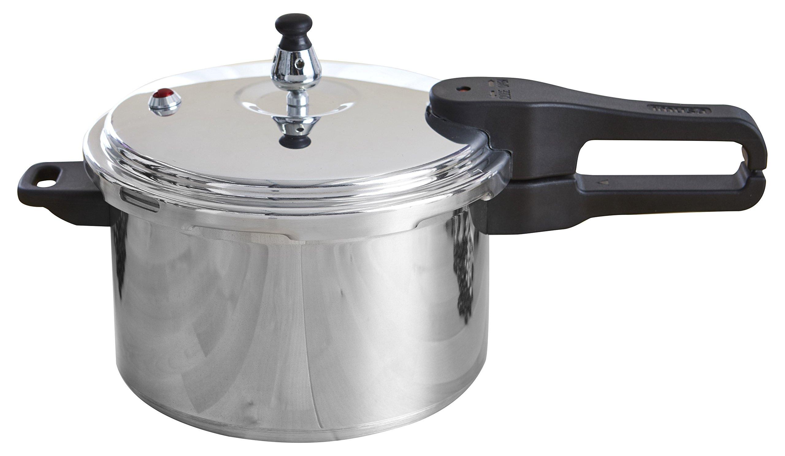 IMUSA USA A417-80801W Stovetop Aluminum Pressure Cooker 7.2-Quart,Silver