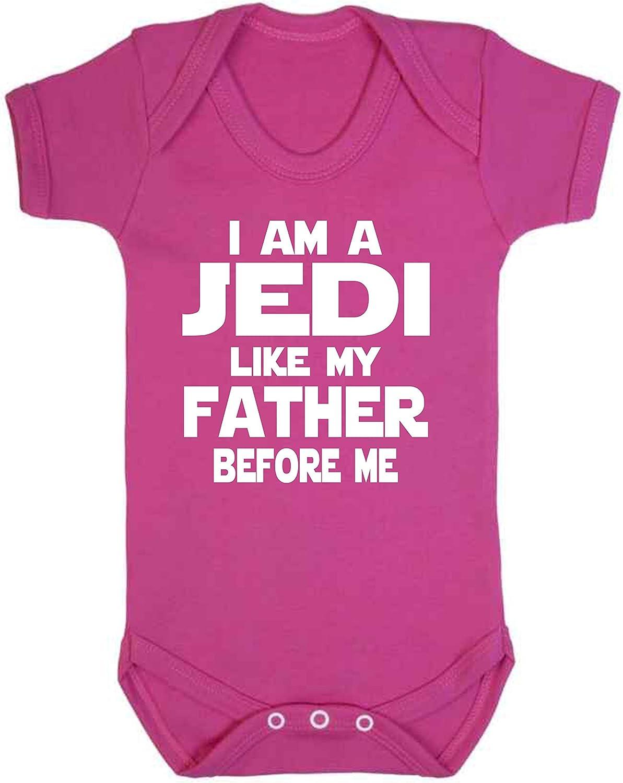 Grenouill/ère fantaisie pour b/éb/é Motif Star Wars avec inscription en anglais /« I am a Jedi like my father /» blanc Red 0-3 mois