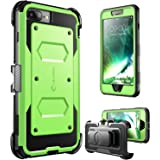 i-Blason Armorbox Dual Layer Protective Case with Built in Screen Protector and Shock Absorbing Bumpers for Apple iPhone 7 Plus - Green