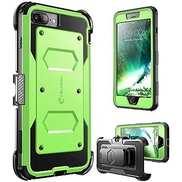i-Blason Funda iPhone 7 Plus [Armorbox] Case para Apple iPhone 7 Plus 2016 / iPhone 8 Plus 2017 Verde