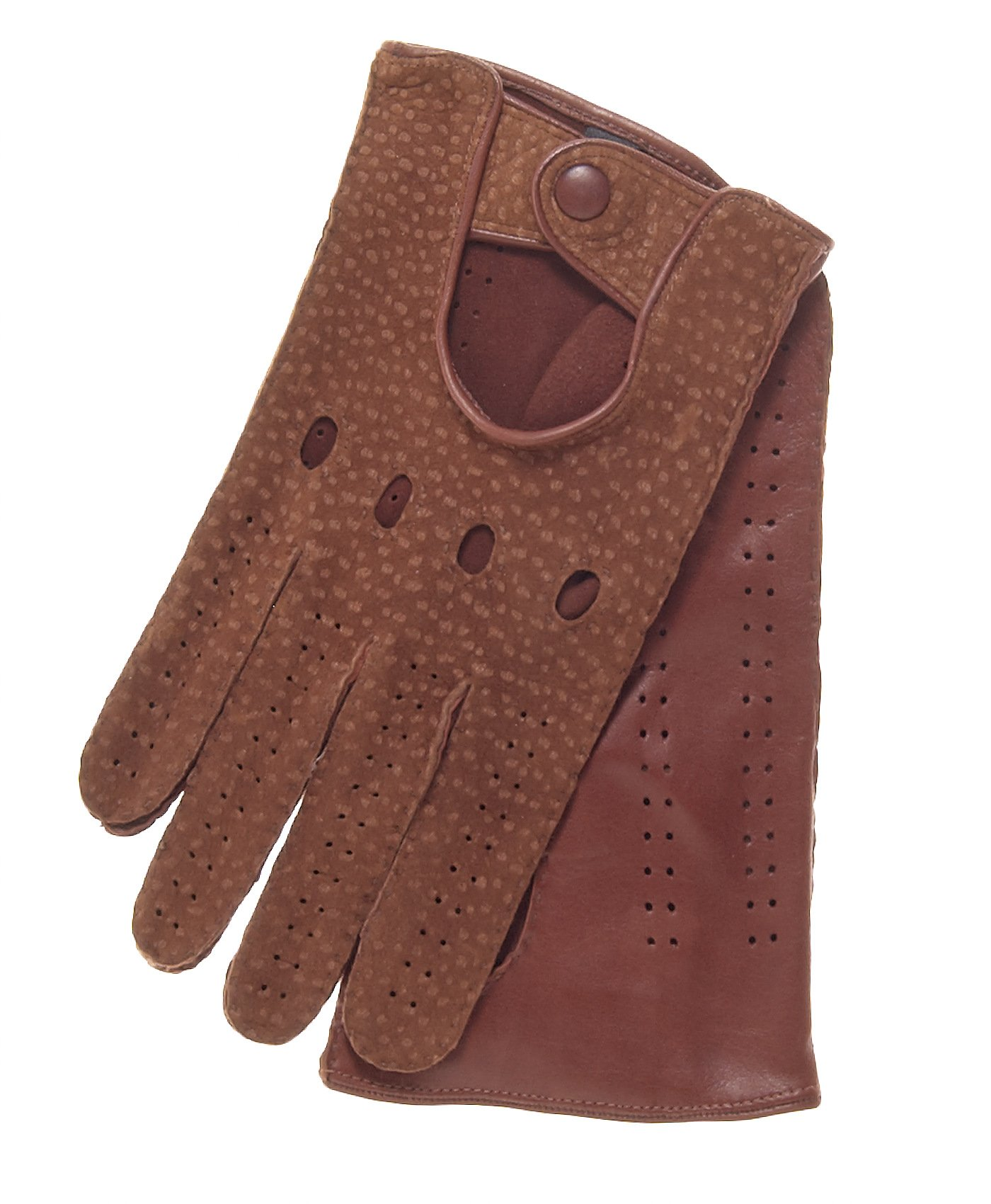 Fratelli Orsini Men's Handsewn Italian Carpincho Driving Gloves Size 10 Color Cork