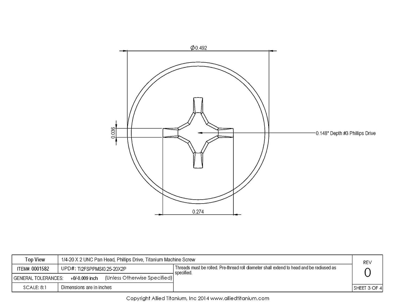 300 Phillips Pan Head 1//4-20 x 1-1//4 Machine Screws Zinc