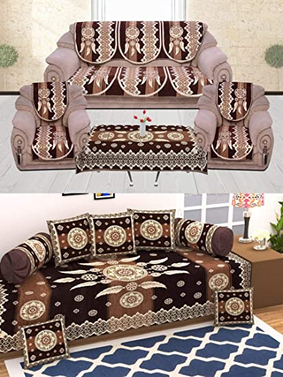 Buy Diwan Set Combo By Daivik Diwan Set Sofa Covers With Table